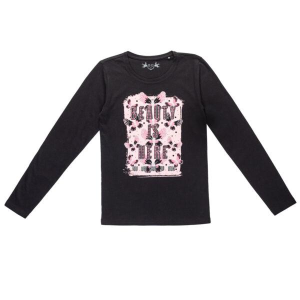 Majica za djevojčice, crna