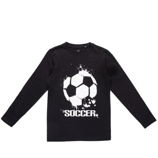Majica za dječake, crna