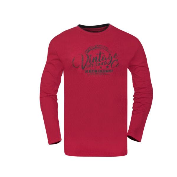 Muška majica, tamno crvena