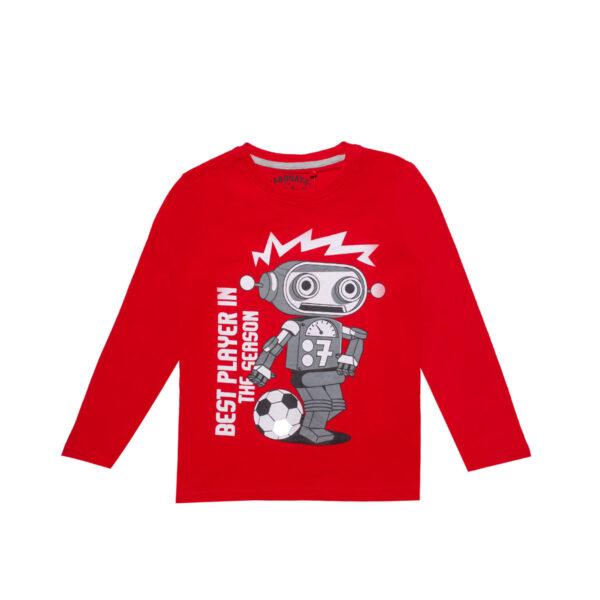 Majica - dečki, crvena