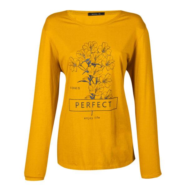 Ženska majica, tamno žuta
